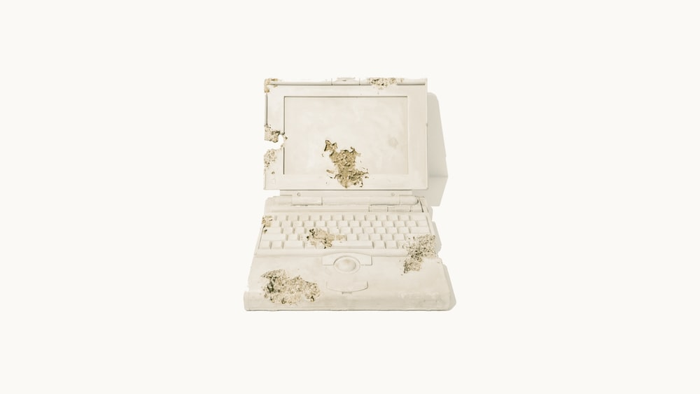 white laptop computer