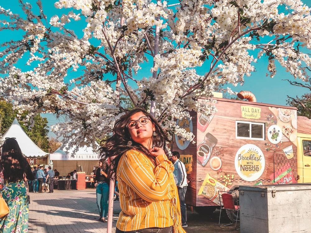 woman near tree
