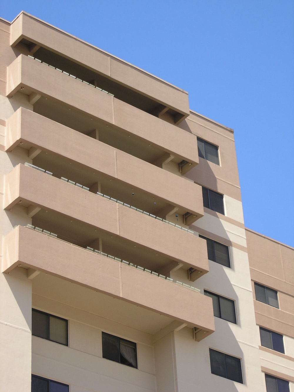 architectural photo of a beige building