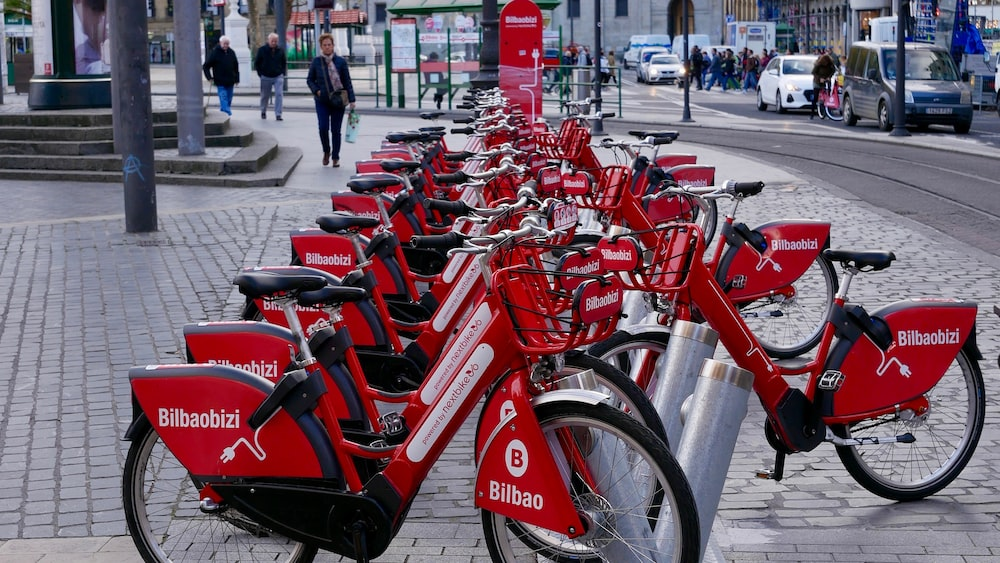 red bicycle lot