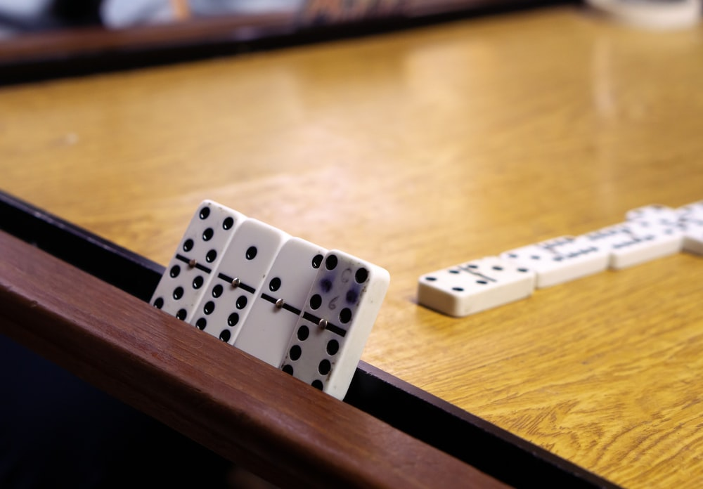 white-and-black dominoes