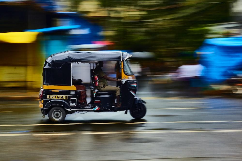 running autorickshaw