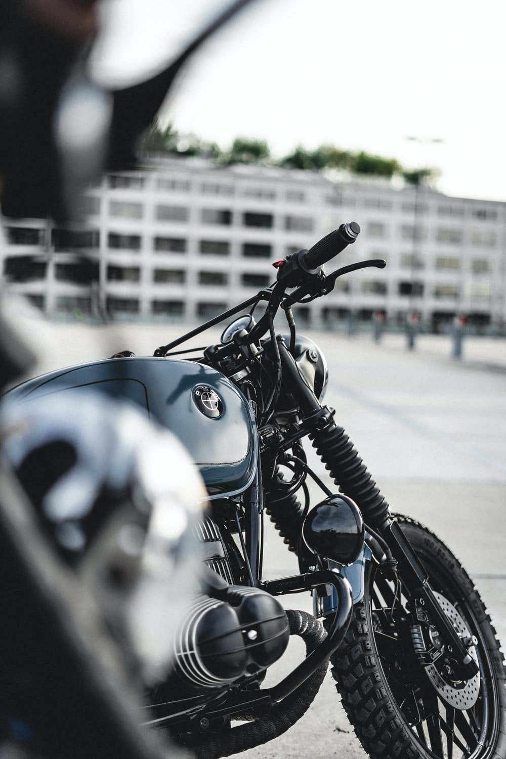 motorcycle parked near fence
