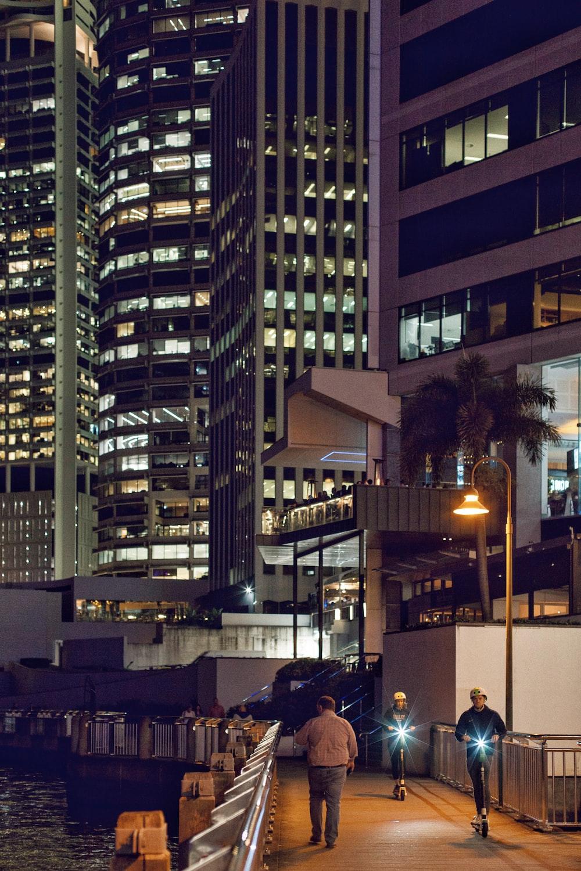people walking near buildings
