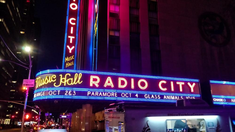 Radio City LED signage