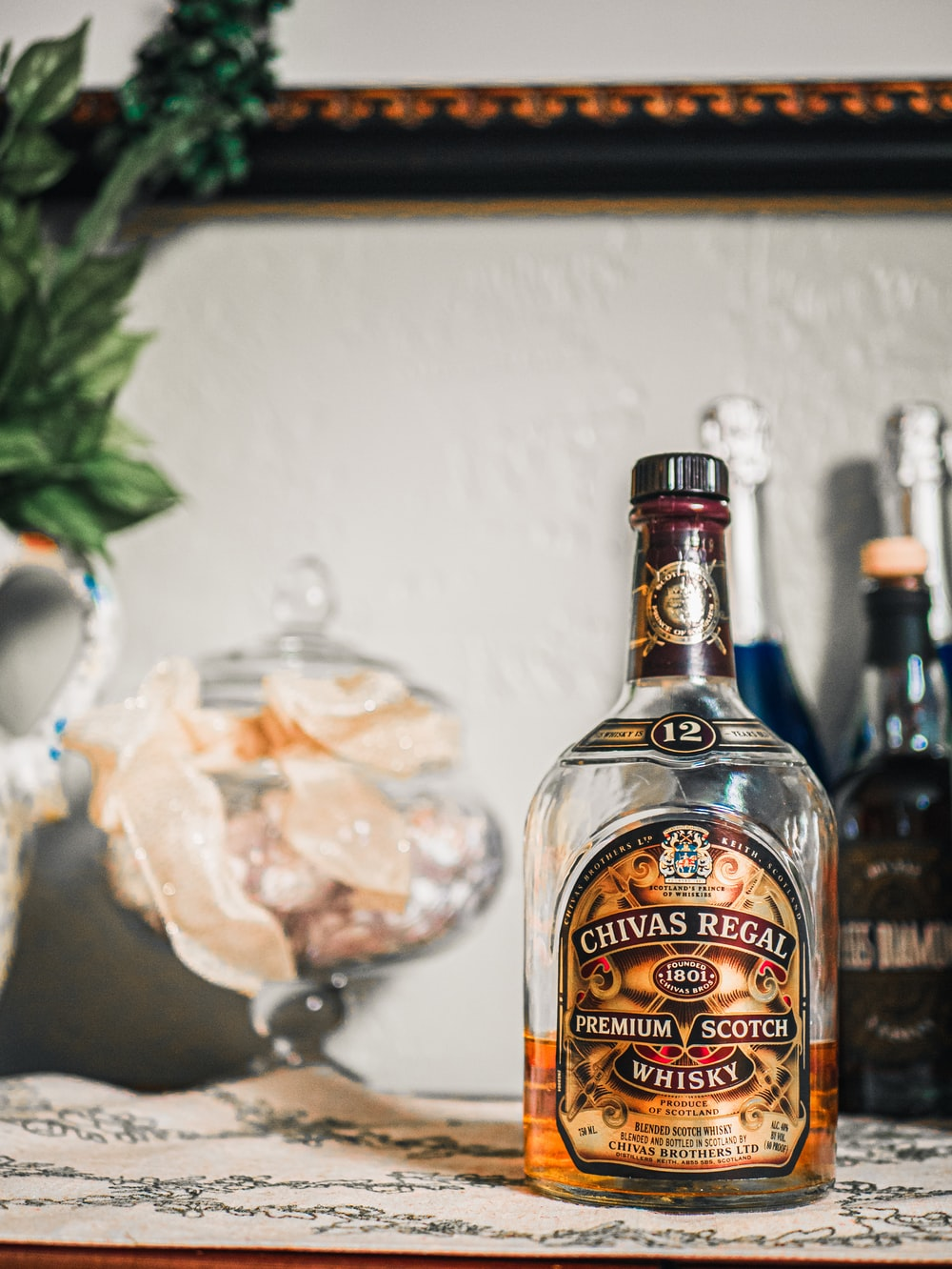 Chivas Regal whisky bottle