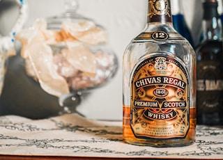 Chivas Regal whisky bottle