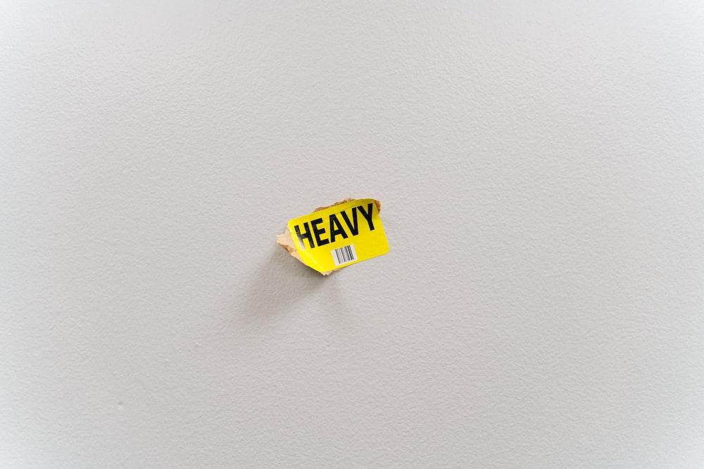 Heavy sticker
