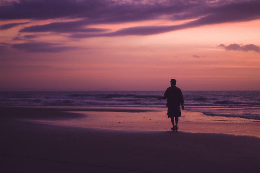 mna walking on shore