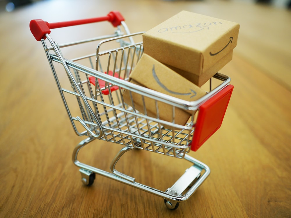 boxes in grocery cart