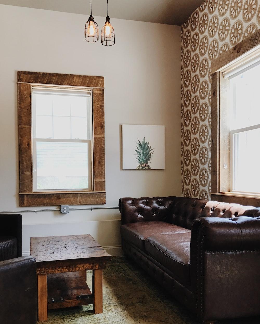 empty chesterfield sofa