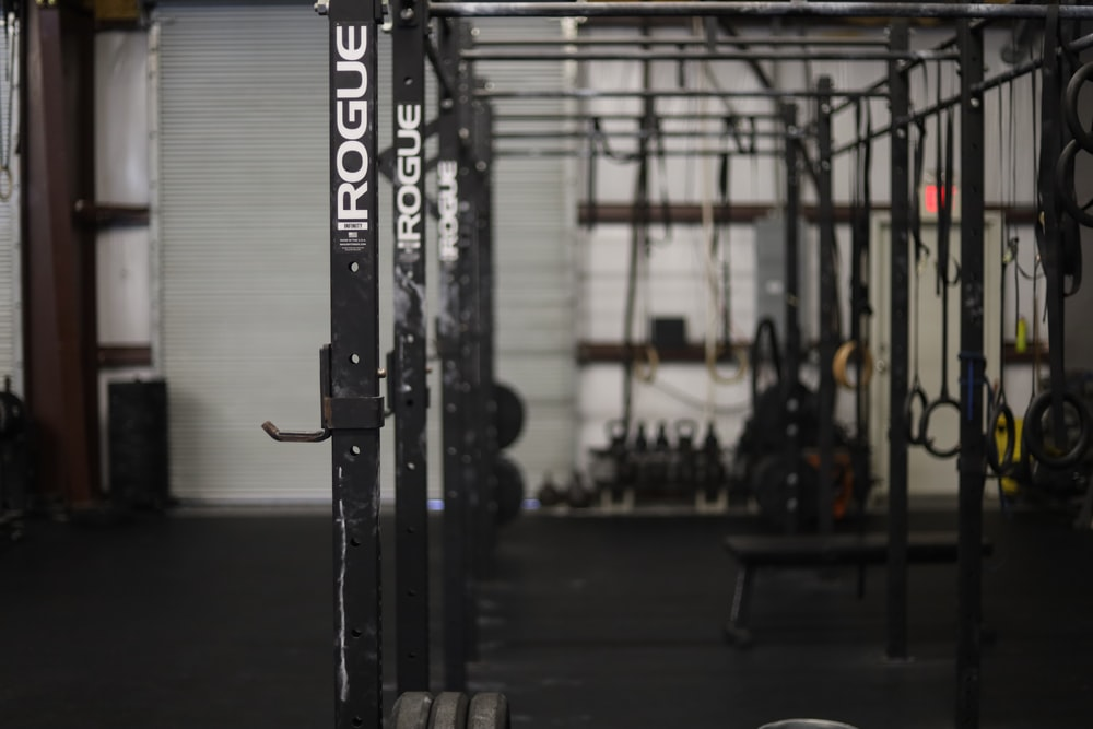 black exercise equipment