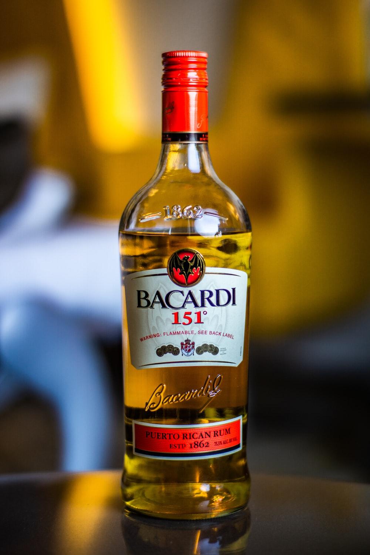 selective focus photography of Bacardi 151 bottle