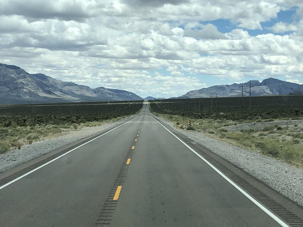 empty wide road