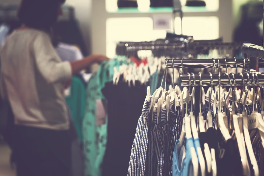 woman at the women's apparels inside department store