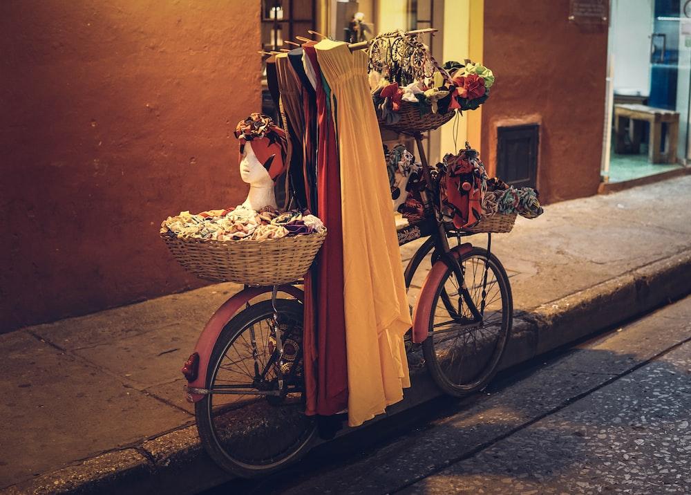 flowers on bike