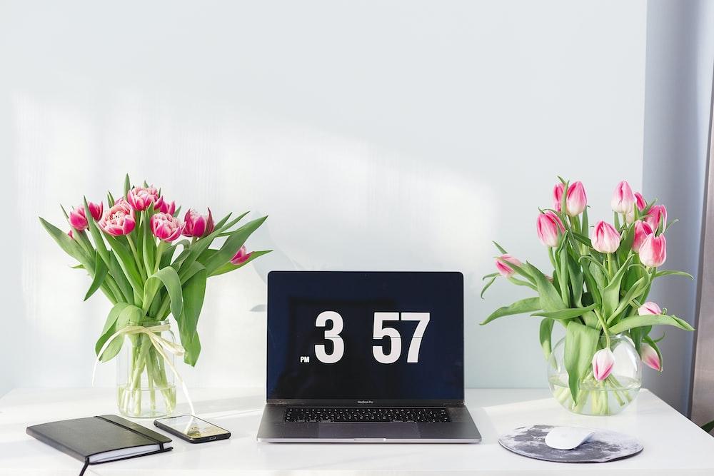 laptop at 3:57