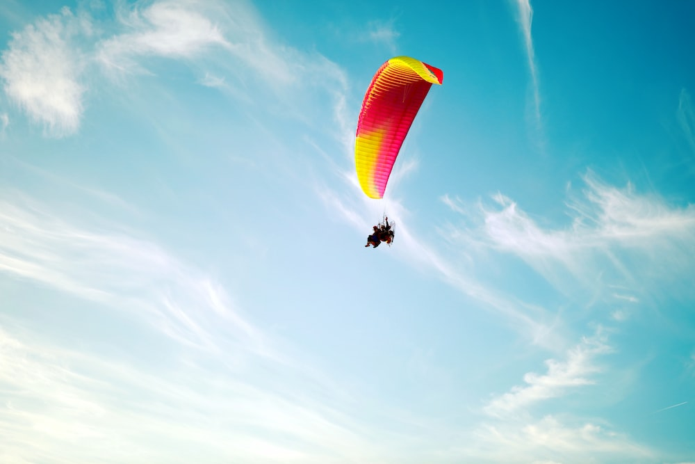 person with parachute