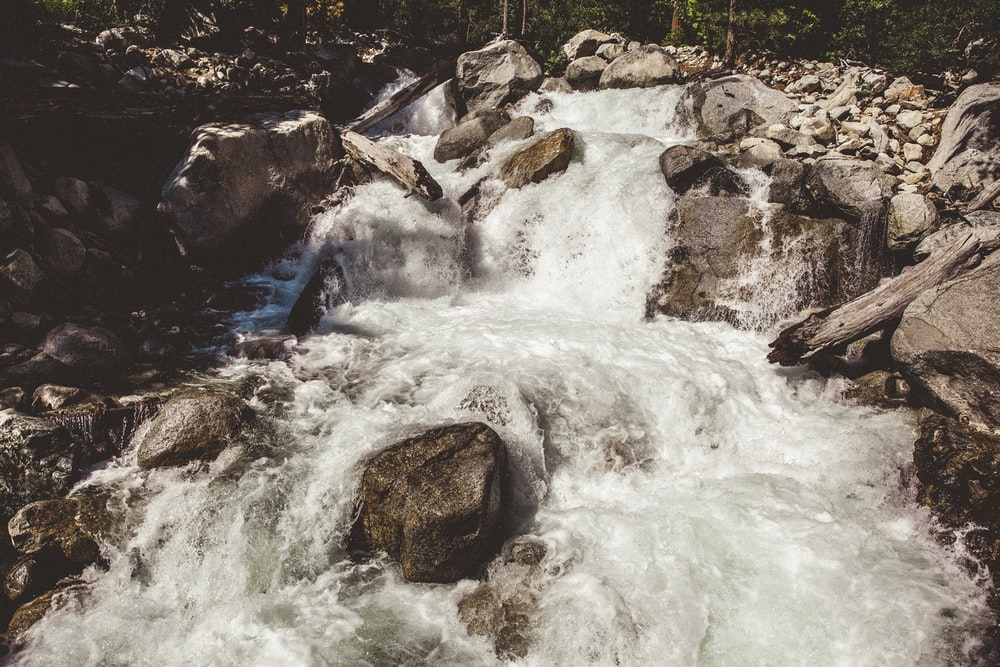time lapse photography of river during daytime