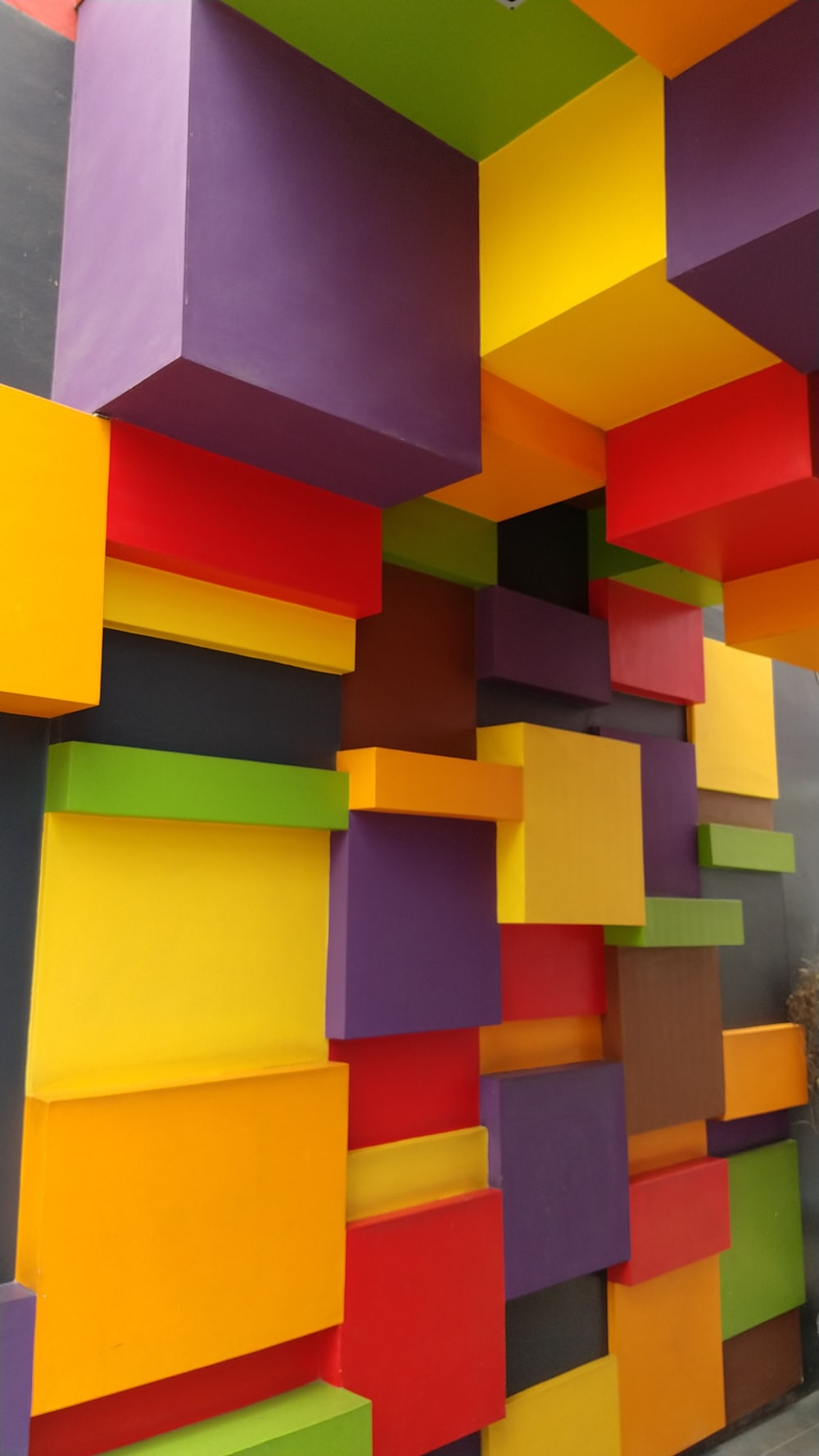 multicolored painted wall