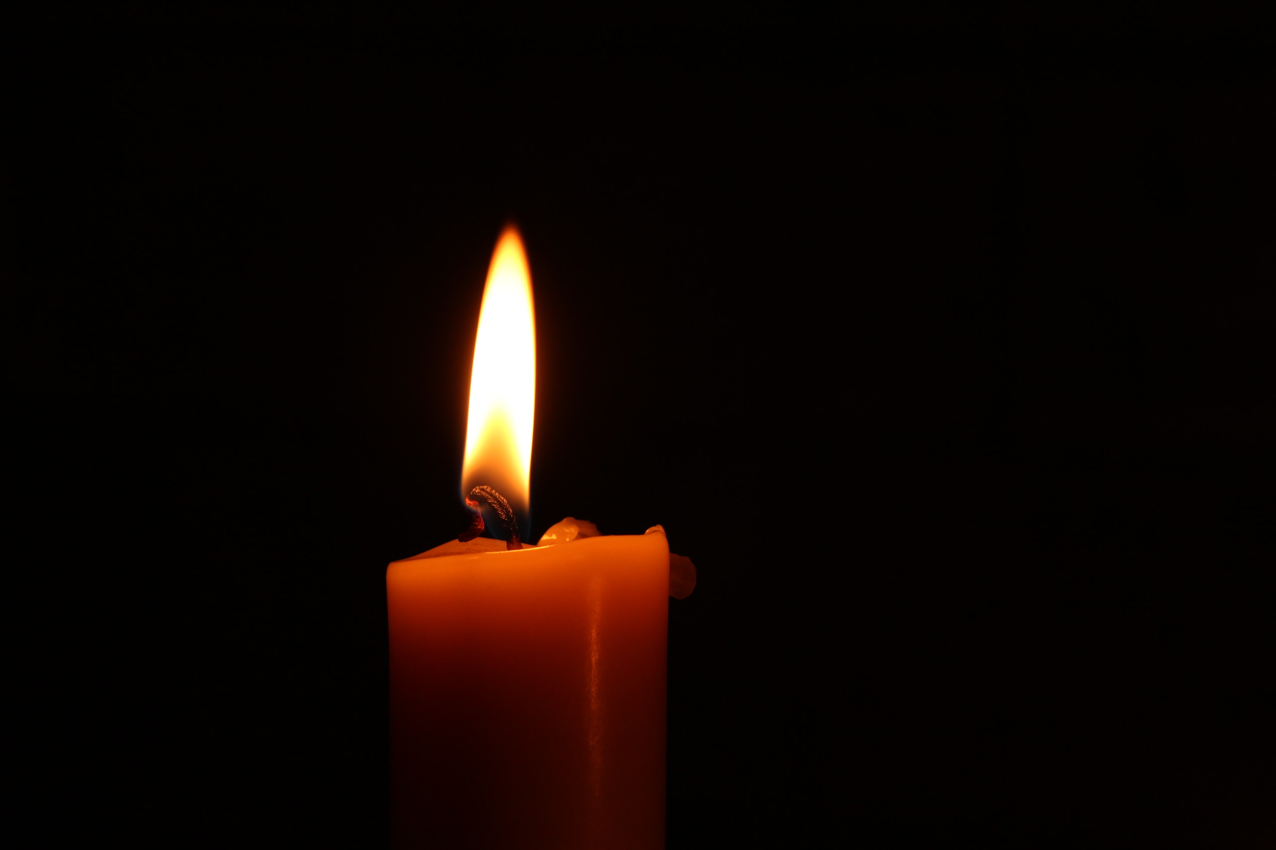 close-up of lighted candle