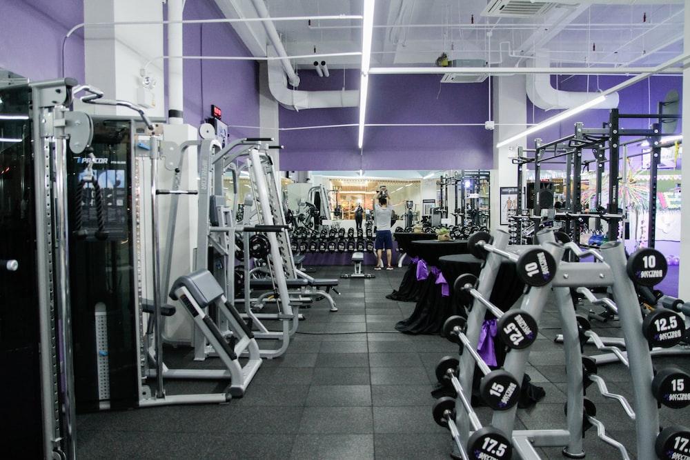 assorted gym equipment inside the gym