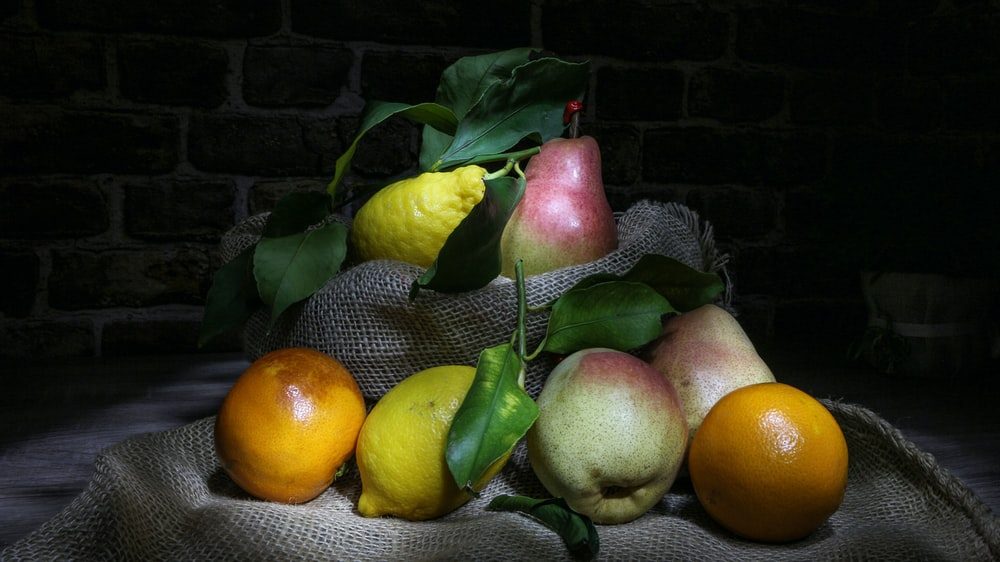 assorted-color fruits