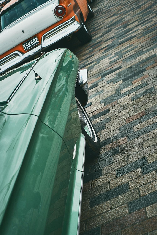 green car hood photo