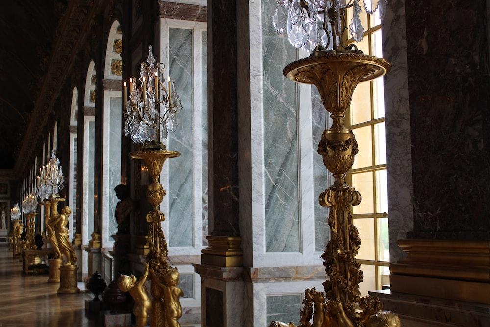 brown floor lamp