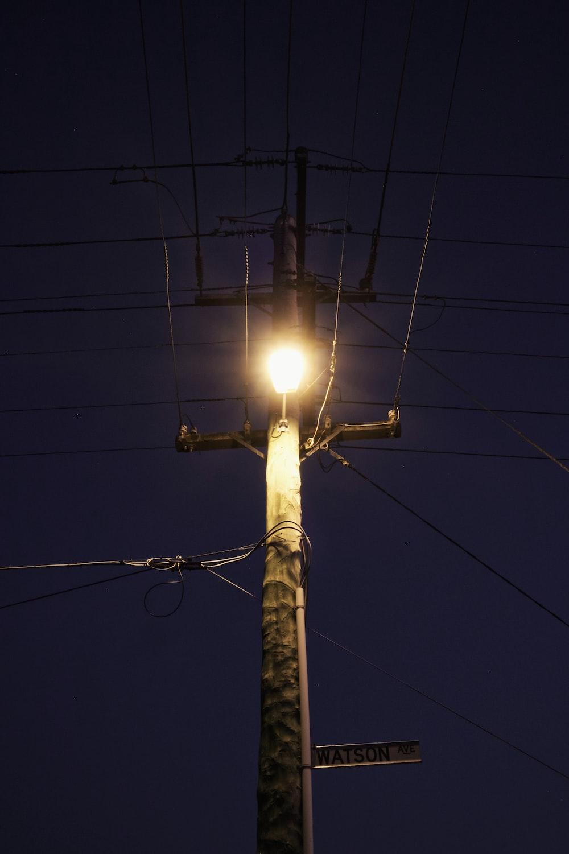 turned-on street post