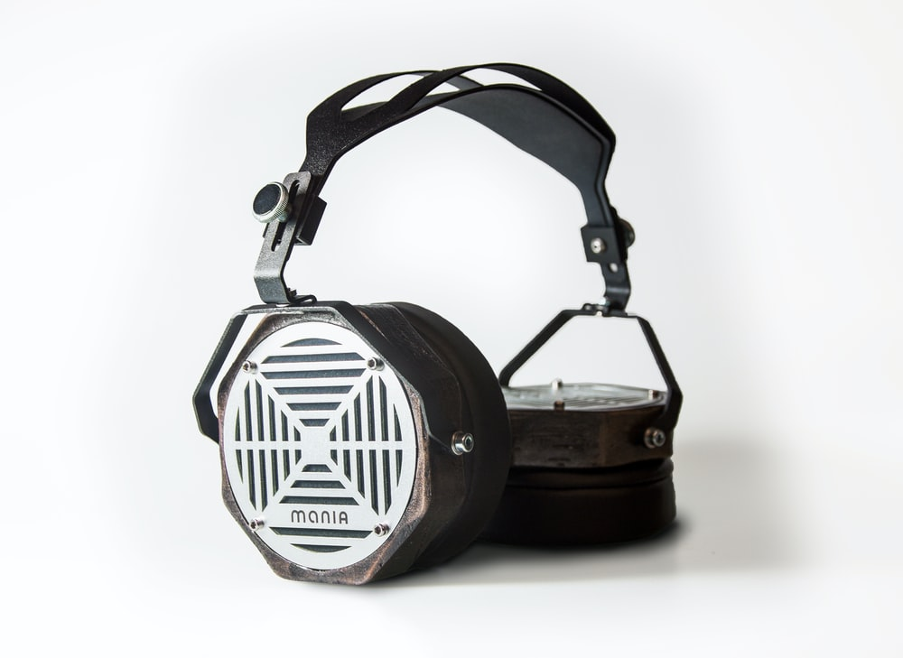 gray and black Monia headphones