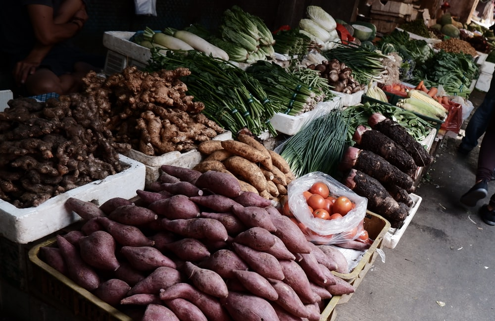 root crops on display