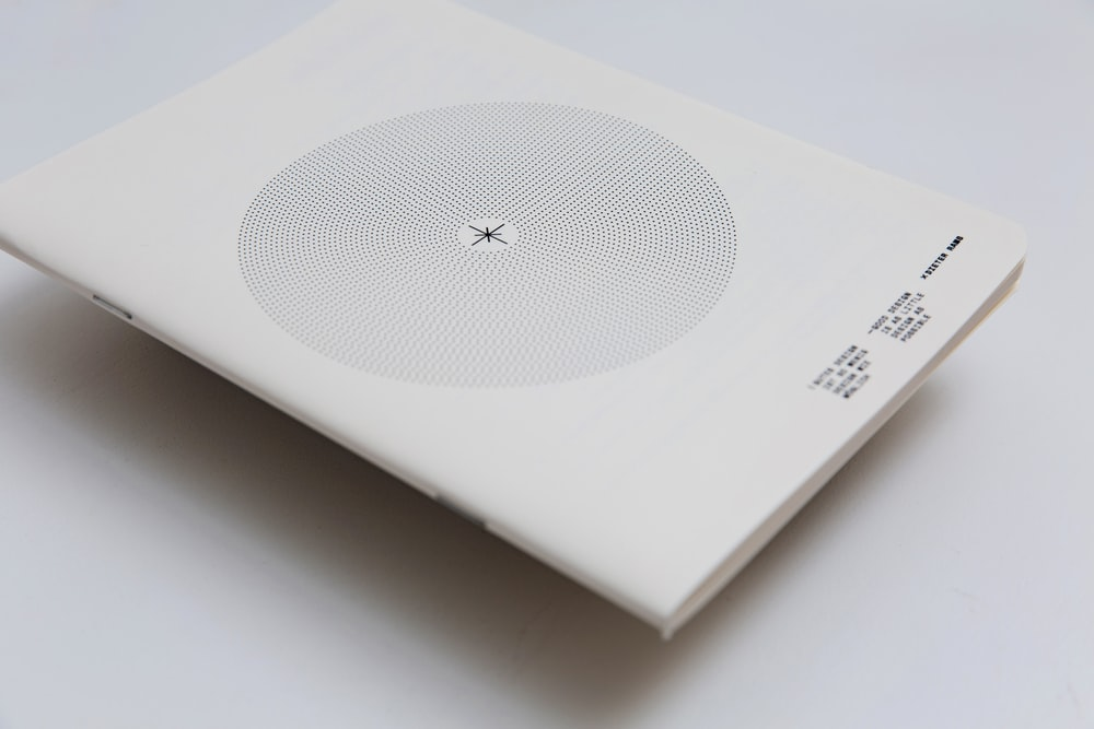 white and gray book