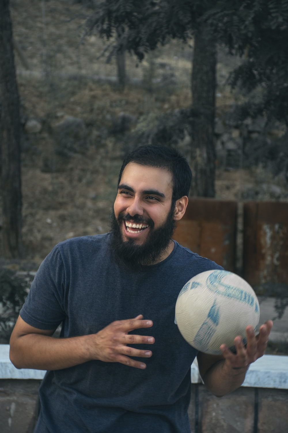 man holding ball