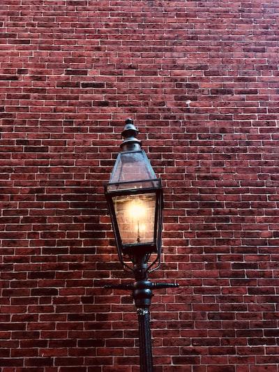 lighted light near wall