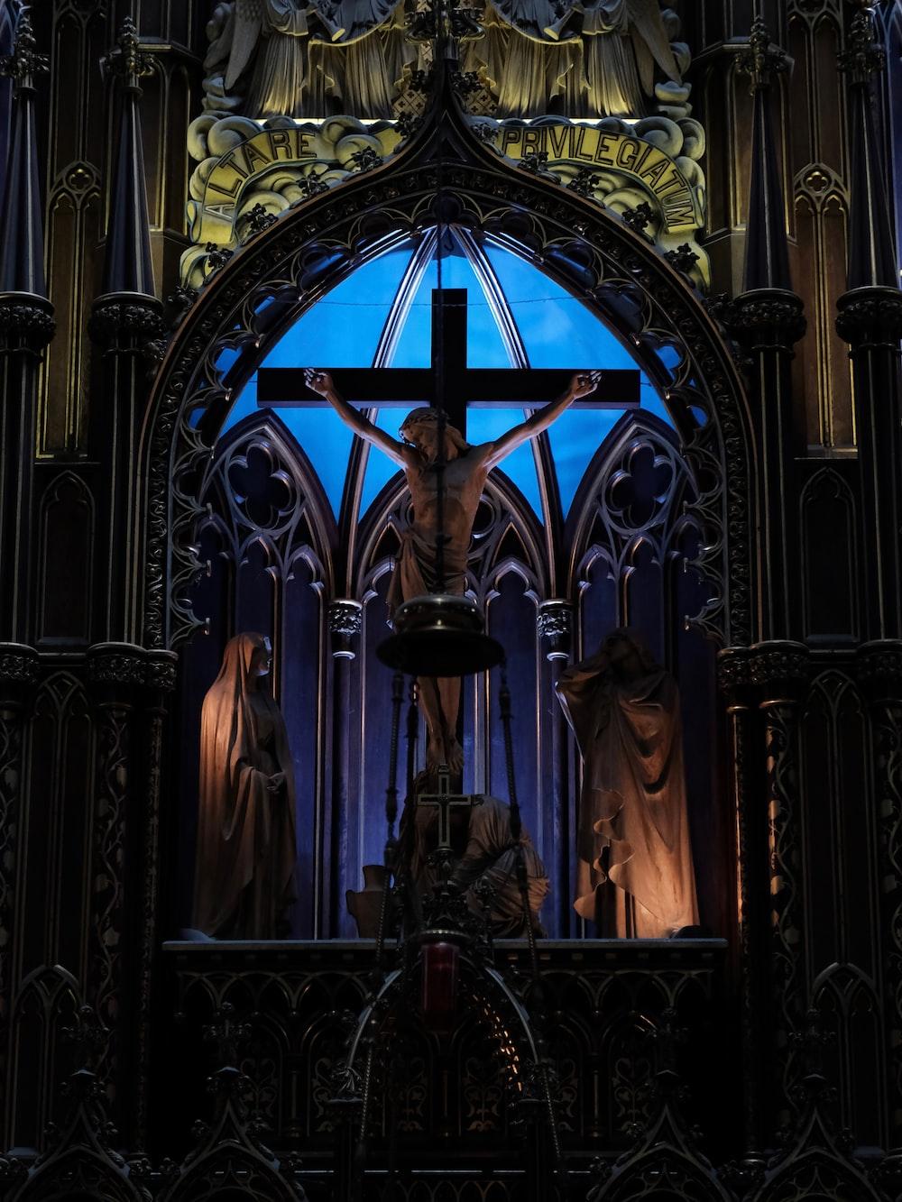 Jesus crucifix statue
