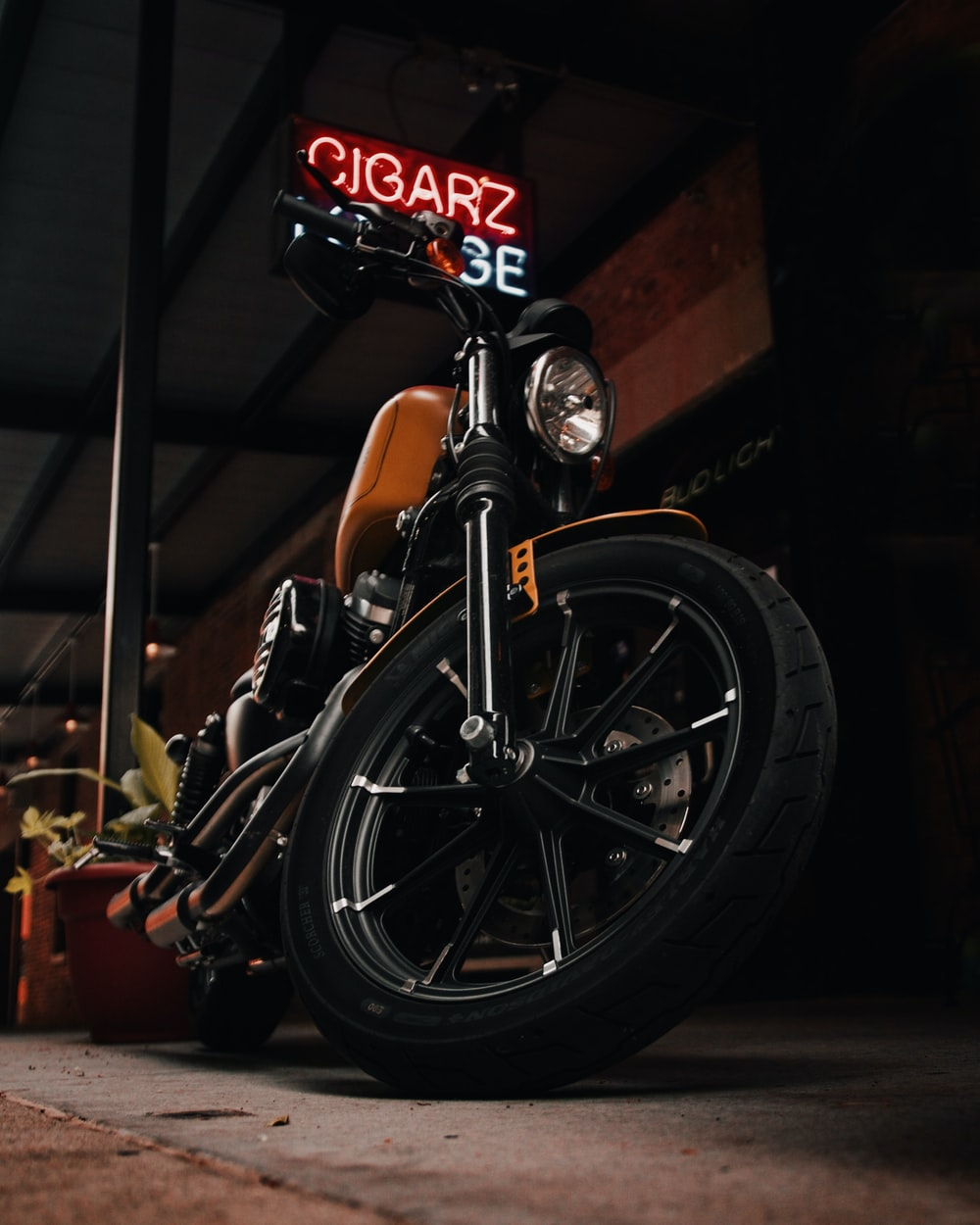 low-angle photography of cruiser motorcycle