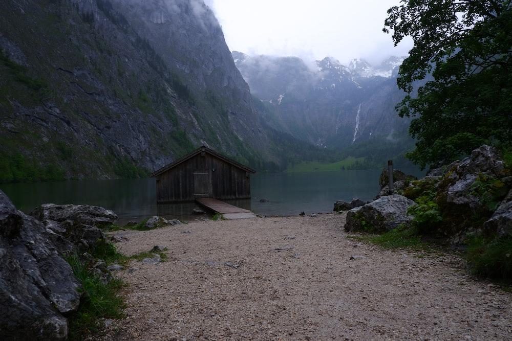 cabin in lake
