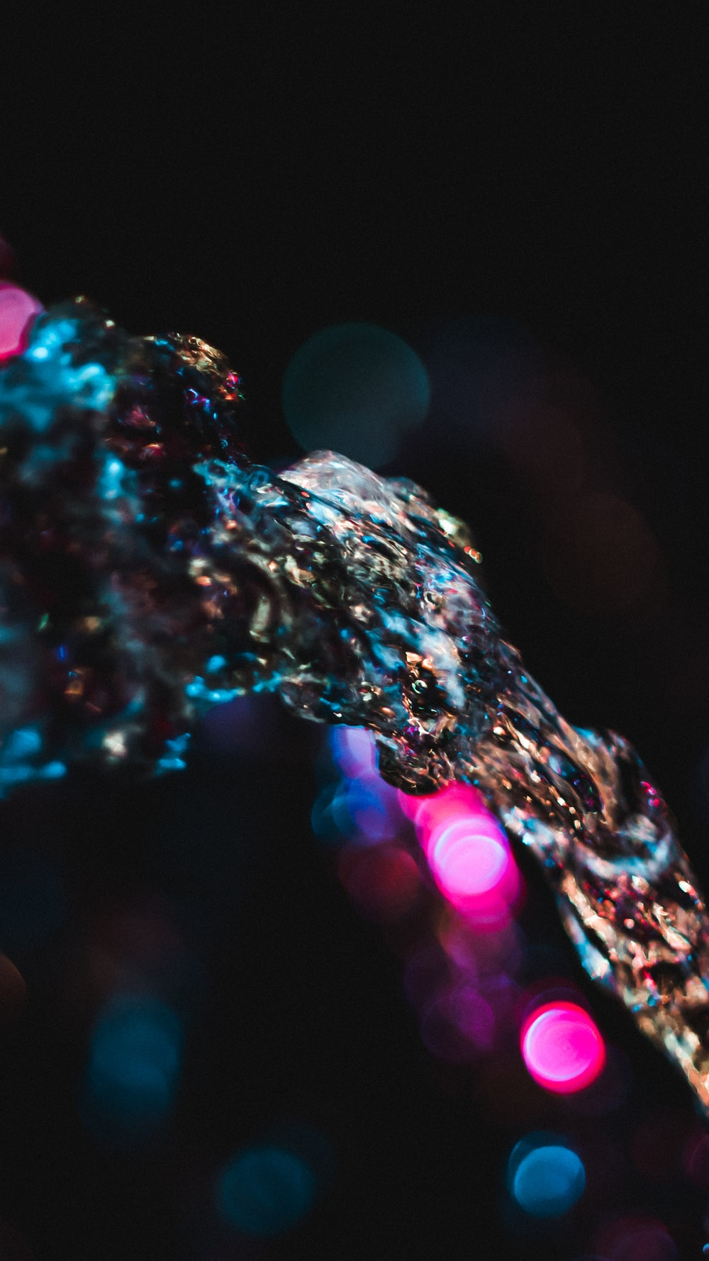 bokeh photography of water