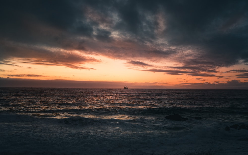 landscape photo of the sea at sunset