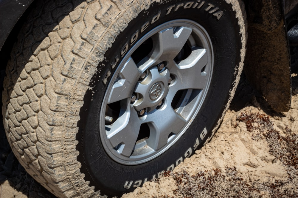 close photo of vehicle wheel