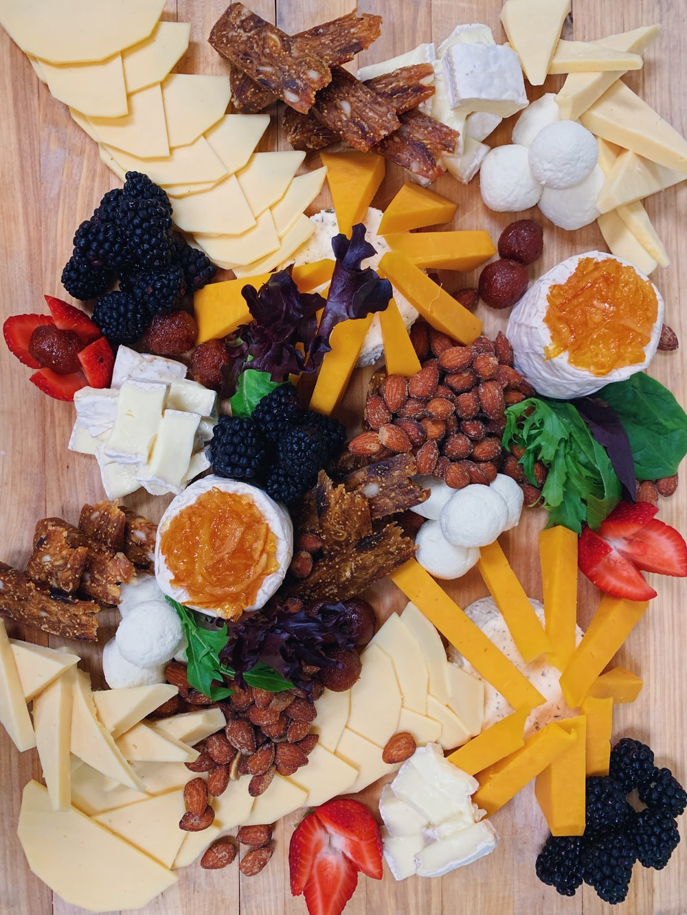assorted foods on focus photography