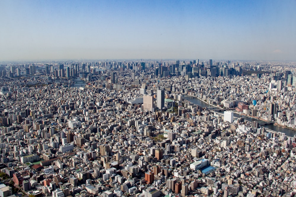 aerial view of cityscape at daytime