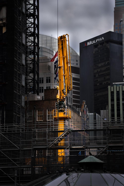 selective photo of crane