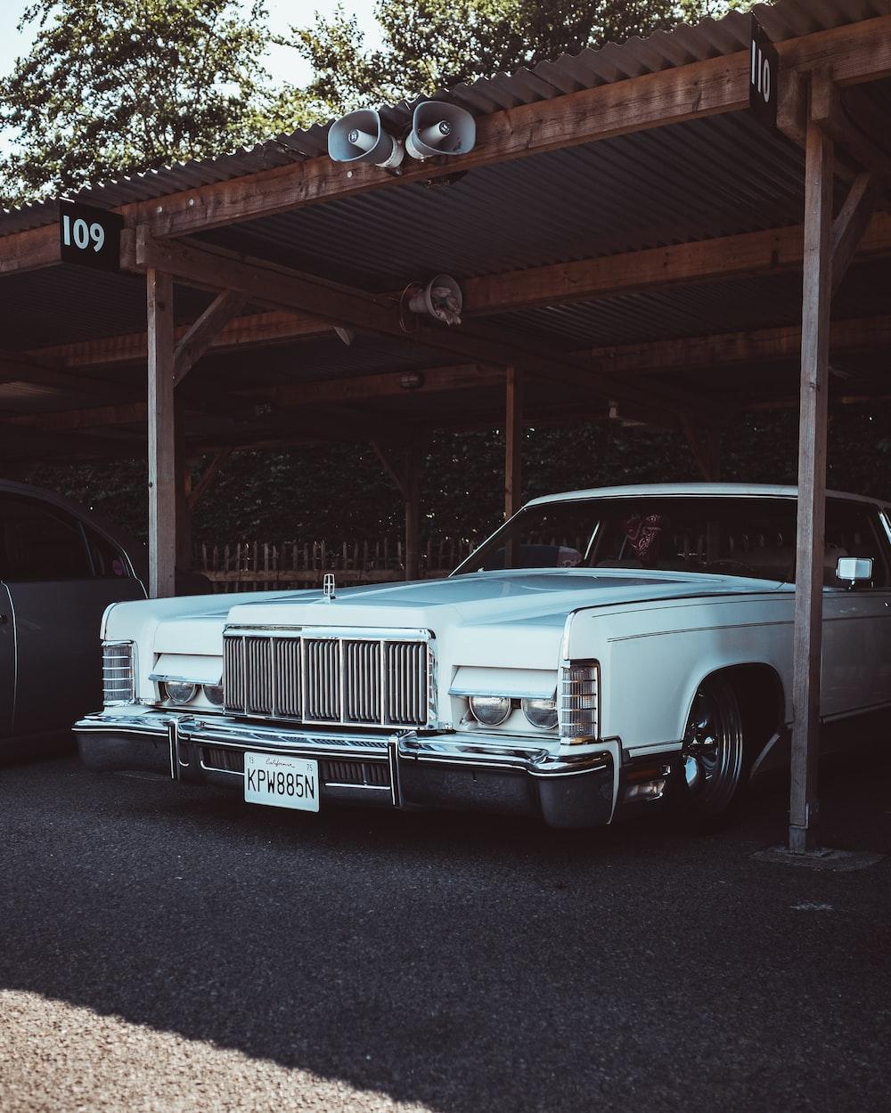 parked car on garage