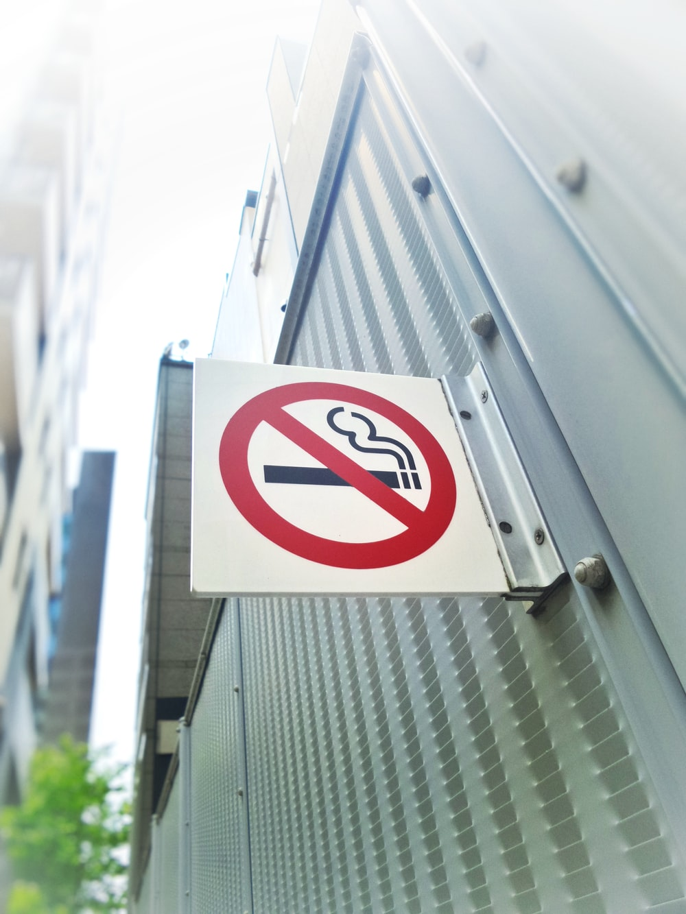 non smoking sign at heavy duty generator system