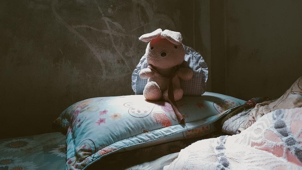 pink rabbit plush toy