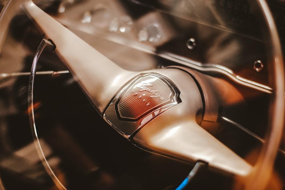 brown steering wheel