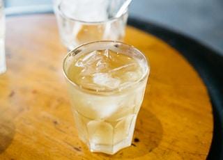 full filled liquid drinking glass