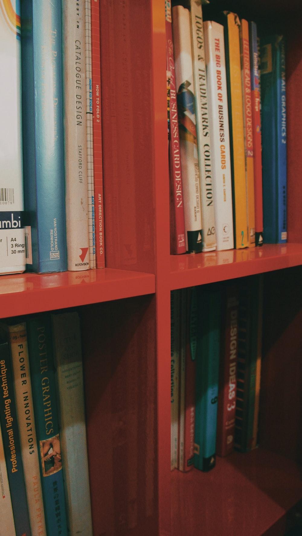 books in shelves